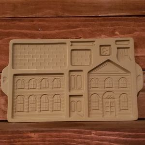 Pampered Chef Stoneware Gingerbread School mold